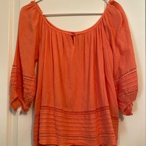H&M coral colored blouse size 2